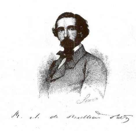 Retrato del poeta romántico portugués, euskaldun y cuya infancia transcurrió en Deusto, Bulhao Patto.